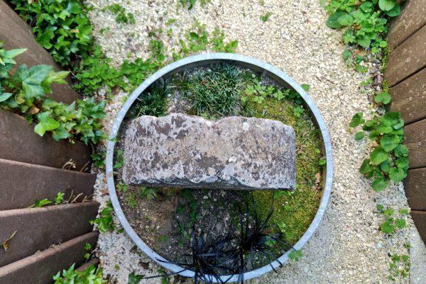 Estela-vistas-desde-arriba-Museo-de-estelas-de-abaurrea-alta-navarra